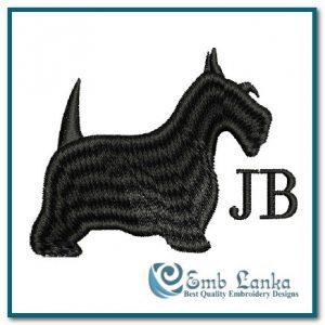 Jeffrey Banks Scottie Dog Embroidery Design Animals
