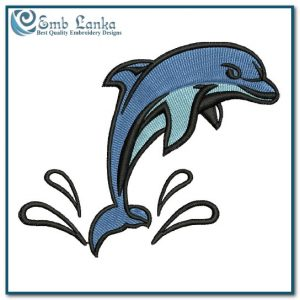 Jumping Dolphin Embroidery Design
