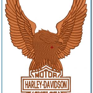 Large Harley Davidson Upwing Eagle Embroidery Design Birds Harley Davidson