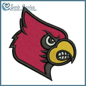 Louisville Cardinals Logo 3 Embroidery Design Logos