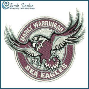 Manly-Warringah Sea Eagles Logo Embroidery Design Logos