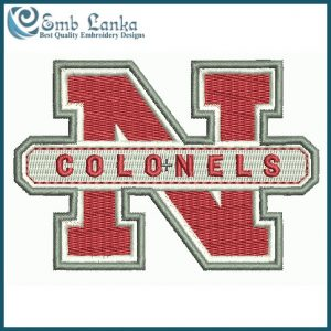 Nicholls State Colonels Logo 2 Embroidery Design Logos