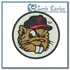 Portland Beavers Alternate Logo Embroidery Design Animals