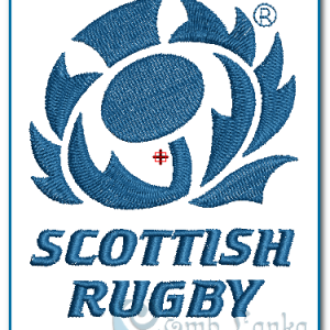 Scottish Rugby Logo Embroidery Design Logos