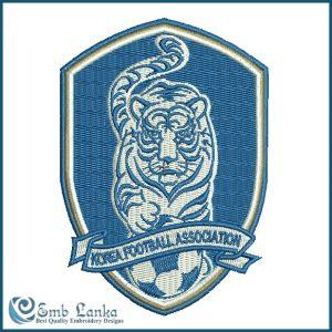 South Korea National Football Team Logo Embroidery Design Logos