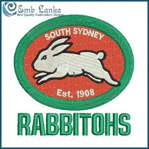 South Sydney Rabbitohs Logo Embroidery Design Logos