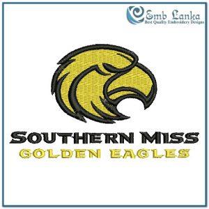 Southern Mississippi Golden Eagles Logo Embroidery Design Birds