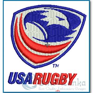 USA Rugby Logo Embroidery Design Logos