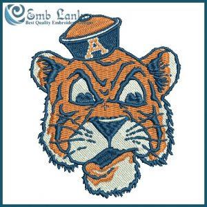 Vintage Auburn Tiger Logo Embroidery design Logos