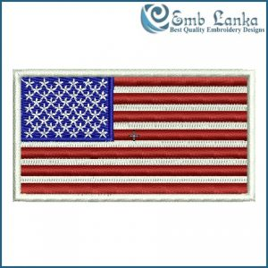 American Flag Embroidery Design Flags