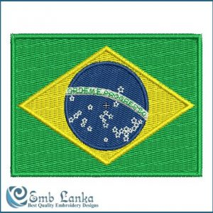 Brazil's Flag Embroidery Design Flags