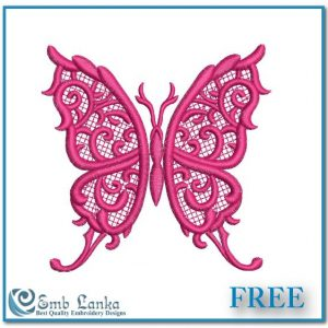 Free Cute Lace Butterfly Embroidery Design Butterflies
