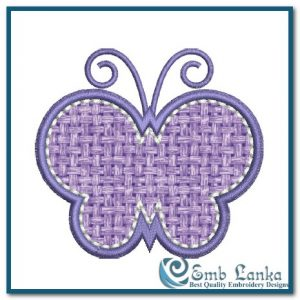 Free Purple Applique Butterfly Embroidery Design Appliques