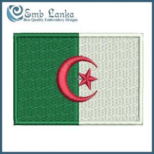 Algeria Flag Embroidery Design Flags