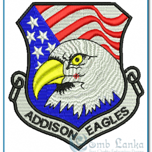 American Flag & Eagles Embroidery Design Birds