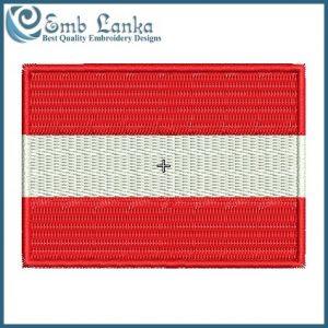 Austria Flag Embroidery Design Flags