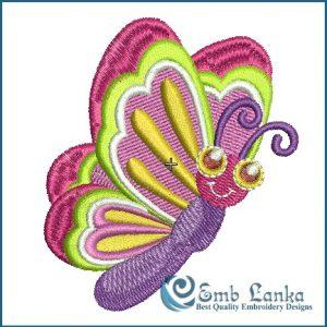 Cartoon Butterfly Embroidery Design Butterflies