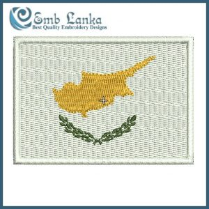 Cyprus Flag Embroidery Design Flags