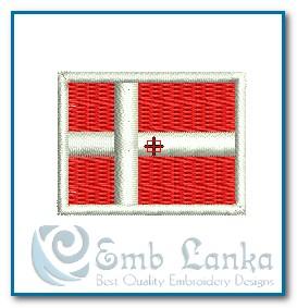 Denmark Flag Embroidery Design Flags