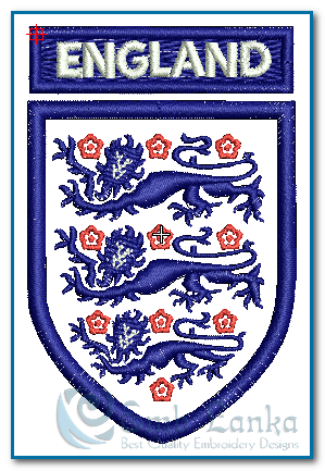England Embroidery Design Flags