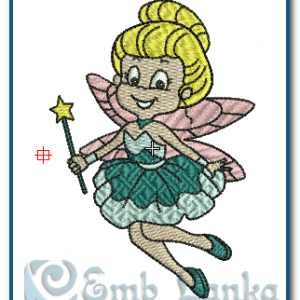Fairy Girl Embroidery Design Angels