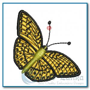 Orange Butterfly Embroidery Design Butterflies