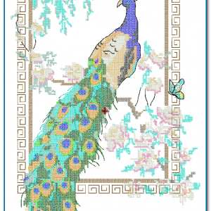 Peacock Crooss Stitch Embroidery Design Birds