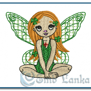 Pretty Fairy Girl Embroidery Design Angels