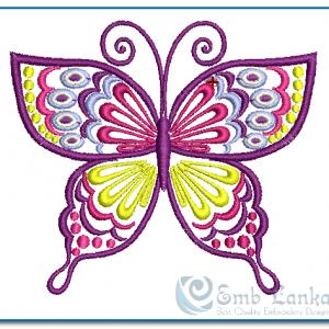 Purple Butterfly Embroidery Design Butterflies