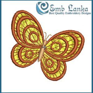 Yellow Butterfly Embroidery Design Butterflies