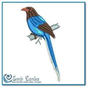 Blue Magpie Birde Embroidery Design Birds