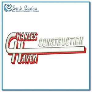 Charles Haven Construction Logo Embroidery Design Custom Digitizing Order