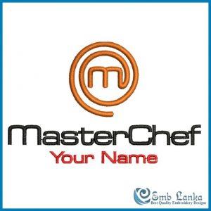MasterChef Logo with Your Name Embroidery Design Custom Digitizing Order