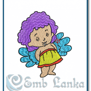 Baby Girl Angel 2 Embroidery Design Angels