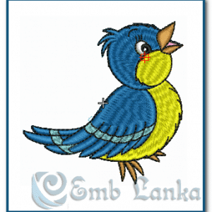Blue Bird Embroidery Design Birds