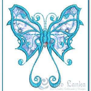 Blue Butterfly Tattoo applique Embroidery Design Butterflies
