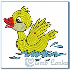 Duckling Embroidery Design Birds