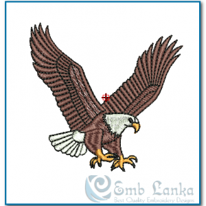 Flying Eagle 2 Embroidery Design Birds