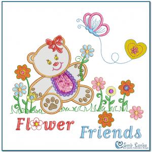 Teddy Bear Embroidery Design Animals