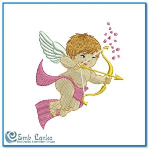Cute Cupid Angel 2 Embroidery Design Angels