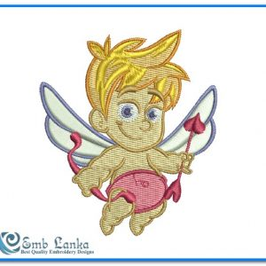 Cute Cupid Angel Embroidery Design Angels
