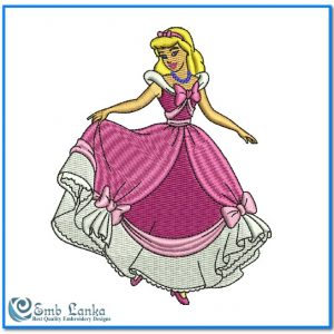 Cute Disney Cinderella Embroidery Design Angels
