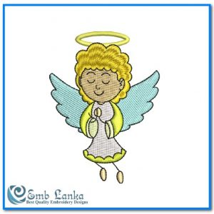 Cute Little Angel Girl Embroidery Design Angels
