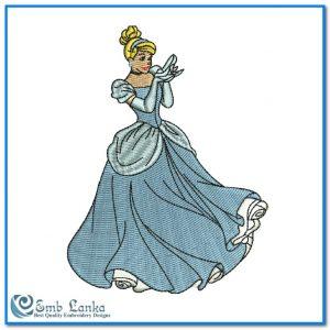 Disney Princess Cinderella Embroidery Design Angels