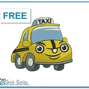 Free Cartoon Taxi Car 300x300, Emblanka