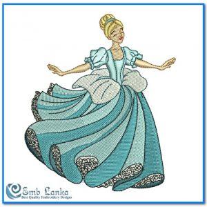 Happy Cinderella Embroidery Design Angels