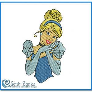 Princess Cinderella 2 Embroidery Design Angels