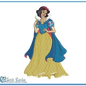 Princess Cinderella 3 Embroidery Design Angels