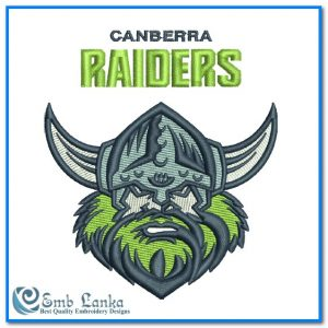 New Canberra Raiders Logo Embroidery Design Logos