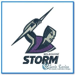 New Melbourne Storm Logo Embroidery Design Logos
